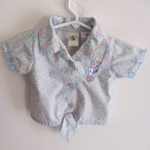 Mickey & Co. Baby Minnie Mouse Button Shirt, 18M